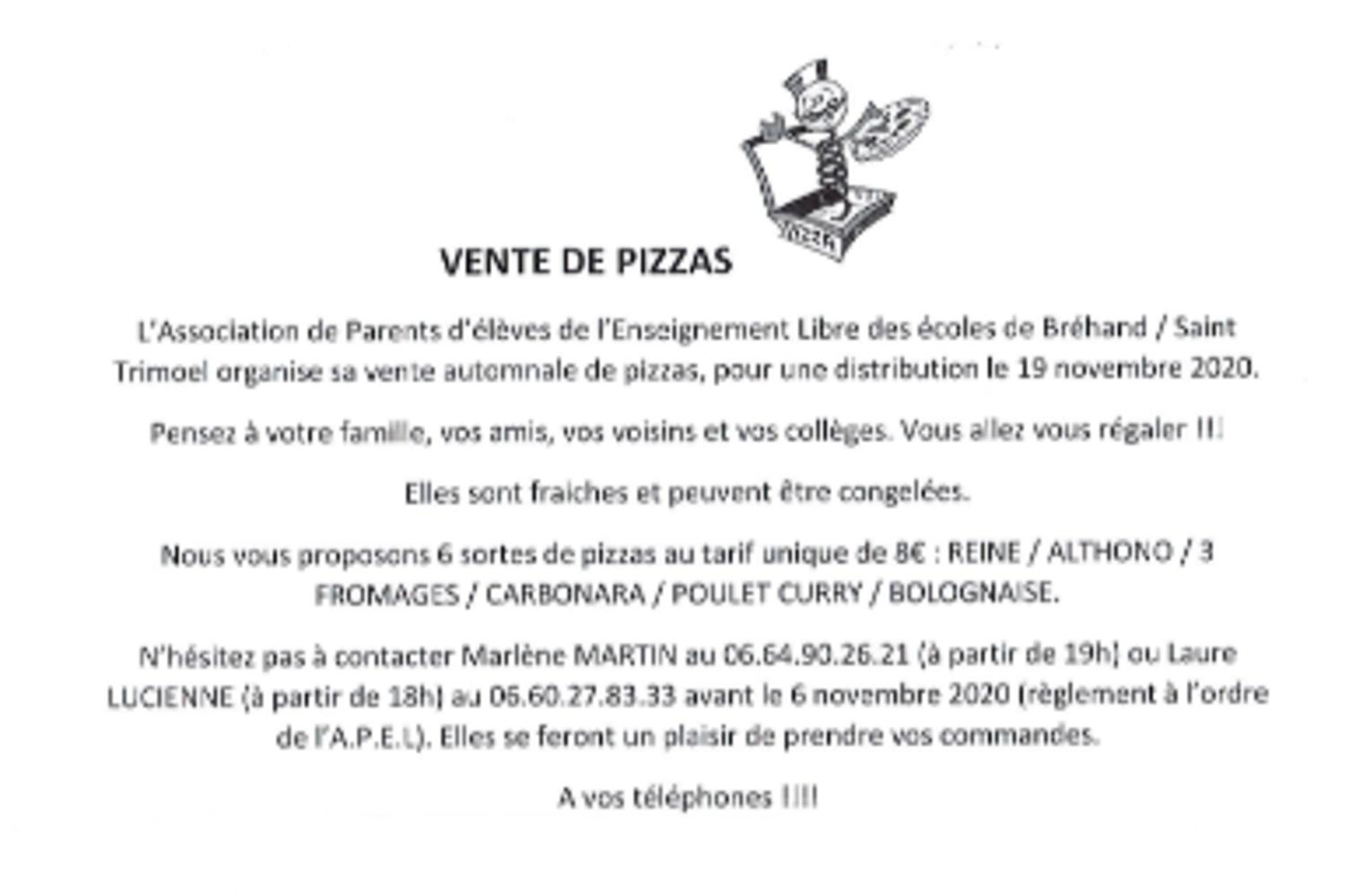 Vente de pizzas 0